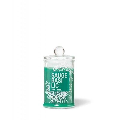 Bougie parfumée bonbonnière 30h sauge basilic Bougie parfumée bonbonnière 30h sauge basilic BOUGIES LA FRANÇAISE