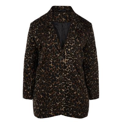 Mid-Length Leopard Print Coat Mid-Length Leopard Print Coat ZIZZI