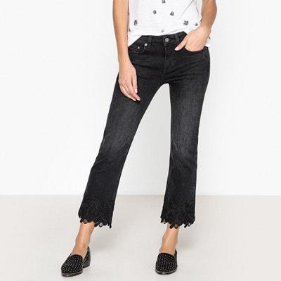 Regular-Jeans mit Guipure-Spitze am Knöchel Regular-Jeans mit Guipure-Spitze am Knöchel THE KOOPLES