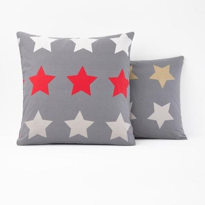 Fronha de almofada estampada, STARS, antracite Fronha de almofada estampada, STARS, antracite La Redoute Interieurs