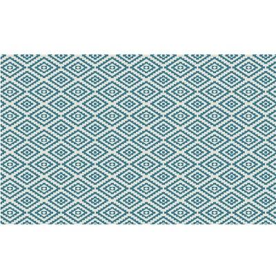 tapis dextrieur beige et bleu en polypropylne 120 x 180 cm storex - Tapis De Bain