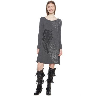 Платье из джерси короткое с анималистическим принтом Платье из джерси короткое с анималистическим принтом DESIGUAL