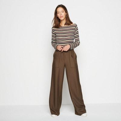 Pantalon taille haute large MONOPRIX