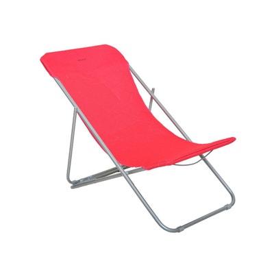 Chaise longue chilienne pliante Setubal Framboise Chaise longue chilienne pliante Setubal Framboise HESPERIDE