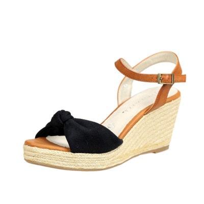 Sandales Compensée QL1429 Noir Sandales Compensée QL1429 Noir ENZA NUCCI