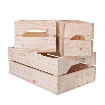 Lot De 3 Caisses De Rangement En Bois Profondeur 20 Cm SIMPLY A BOX