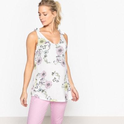 Zwangerschaps T-shirt met bloemenprint La Redoute Collections