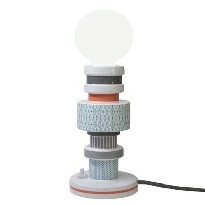 MORESQUE - Lampe à poser Céramique motifs vintage Turnot H20cm SELETTI