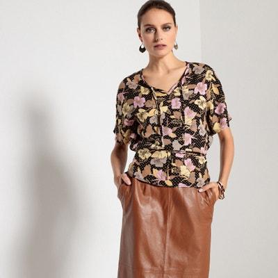 Bedrukte blouse, tuniekhals, korte mouwen ANNE WEYBURN