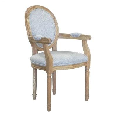 chaise mdaillon accoudoir fauteuil tissu gris medicis rf 30020880 chaise mdaillon accoudoir fauteuil tissu gris medicis - Chaise Chene