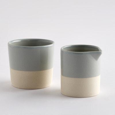 Set pot à lait et pot à sucre céramique, base grès, Warota La Redoute Interieurs