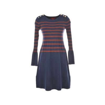 Gestreepte jurk in tricot Bonze Gestreepte jurk in tricot Bonze RENE DERHY
