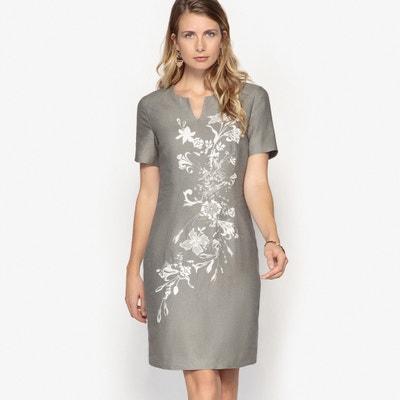 Vestido recto semilargo, 100% lino Vestido recto semilargo, 100% lino ANNE WEYBURN