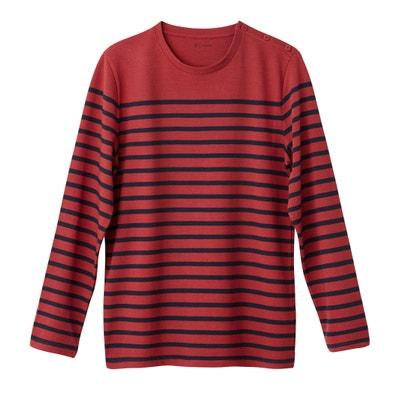 Camisola de mangas compridas, gola redonda, estilo marinheiro, 100% algodão Camisola de mangas compridas, gola redonda, estilo marinheiro, 100% algodão La Redoute Collections