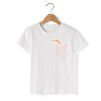 Koszulka z okrągłym wycięciem szyi, nadrukiem i krótkim rękawem La Redoute Collections