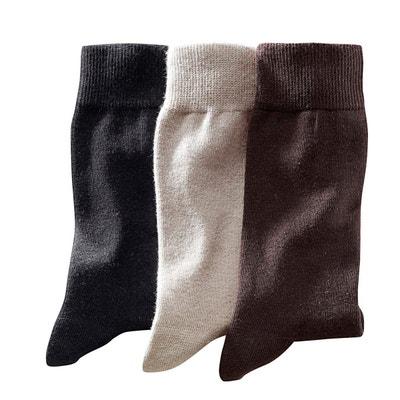 Chaussettes unies (lot de 3 paires) Chaussettes unies (lot de 3 paires) La Redoute Collections