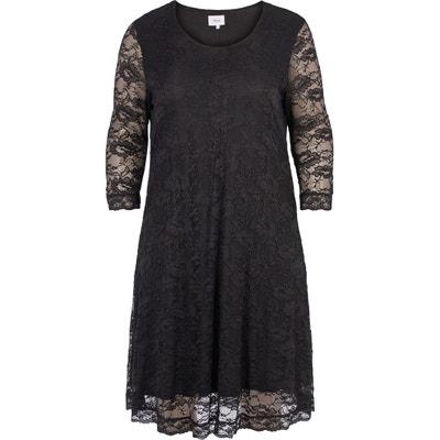 Платье прямое однотонное средней длины с рукавами 3/4 Платье прямое однотонное средней длины с рукавами 3/4 ZIZZI