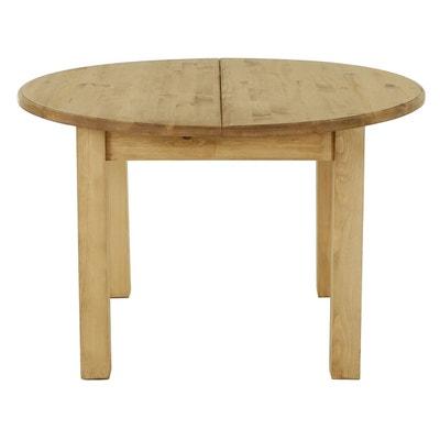 Table bois massif pied central en solde   La Redoute