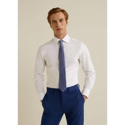 2612b2bb60c7a Chemise Tailored slim-fit coton stretch MANGO MAN