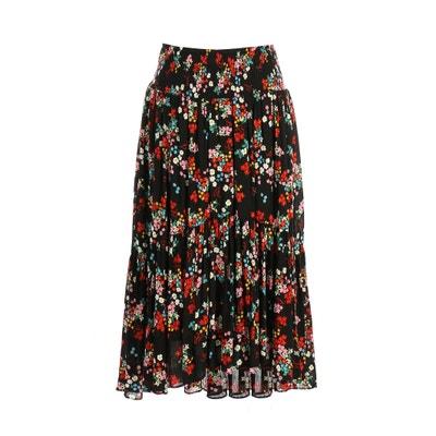 Jupe  plissée imprimé floral, mi-longue Jupe  plissée imprimé floral, mi-longue RENE DERHY
