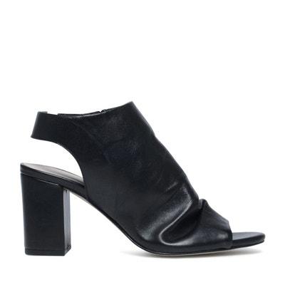 Sandales fermées avec peep toe  Sacha  La Redoute