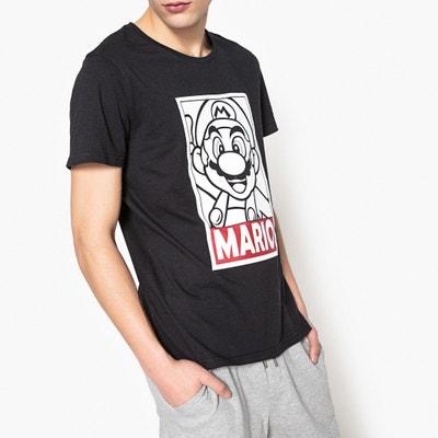 T-shirt estampada com gola redonda, mangas curtas T-shirt estampada com gola redonda, mangas curtas MARIO