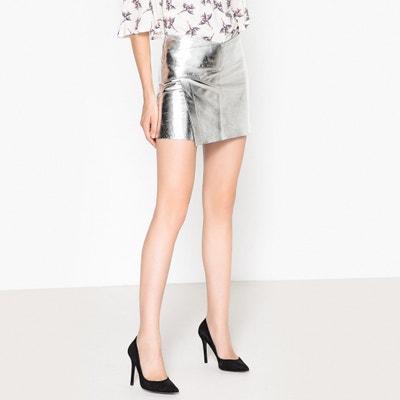 Mania Metallic Leather Mini Skirt Mania Metallic Leather Mini Skirt BA&SH