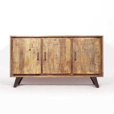 Buffet industriel bois et métal, 3 portes  |  B35 Buffet industriel bois et métal, 3 portes  |  B35 MADE IN MEUBLES