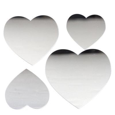 Stickers Miroir - 15 x 15 cm - Coeur Stickers Miroir - 15 x 15 cm - Coeur ATMOSPHERA