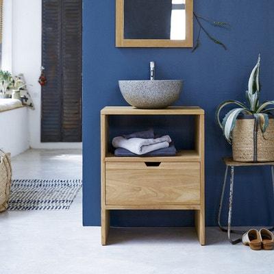meuble sous vasque en bois de teck 60 kwarto meuble sous vasque en bois de teck