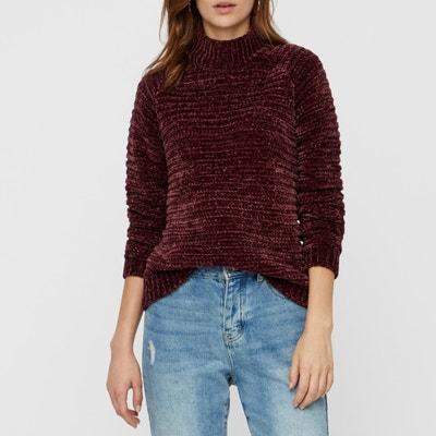 Пуловер с воротником-стойкой из трикотажа Пуловер с воротником-стойкой из трикотажа VERO MODA
