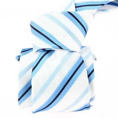 Cravate en soie ATTORE, rayée bleu Cravate en soie ATTORE, rayée bleu ATTORE c1be7aff618