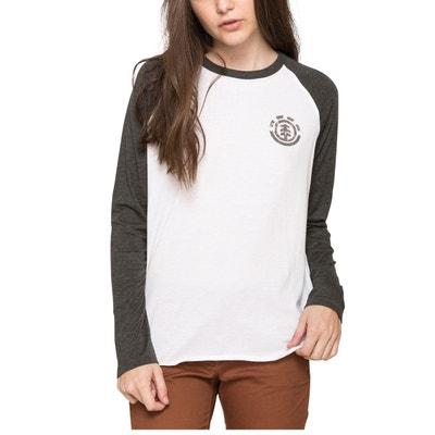 T-shirt femme bicolore à manches longues Sport ELEMENT
