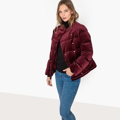 Velvet Padded Jacket with High Neck Velvet Padded Jacket with High Neck La Redoute Collections