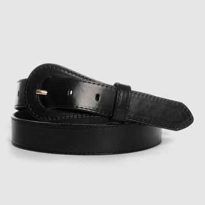 Ne-Retro Buckled Belt with Round Tip Ne-Retro Buckled Belt with Round Tip La Redoute Collections