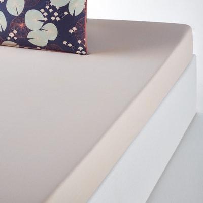 JARDIN D'EAU Plain Cotton Fitted Sheet La Redoute Interieurs