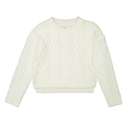 Kurzer Pullover aus Zopfstrick, 10-16 Jahre Kurzer Pullover aus Zopfstrick, 10-16 Jahre La Redoute Collections