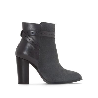 Boots pelle laccetti alla caviglia La Redoute Collections
