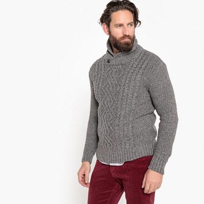 Chunky Knit Shawl Collar Jumper Chunky Knit Shawl Collar Jumper La Redoute Collections