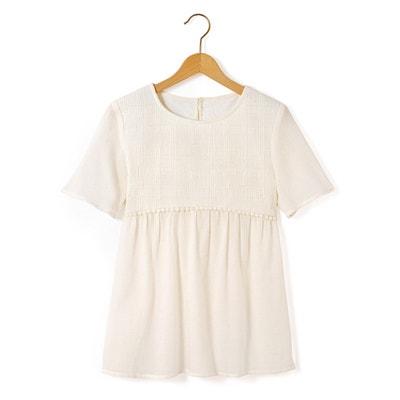 Geborduurde blouse met korte mouwen La Redoute Collections