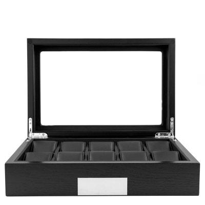Ecrin Luxe bois 10 montres, Kennett, noir vitré Ecrin Luxe bois 10 montres, Kennett, noir vitré KENNETT