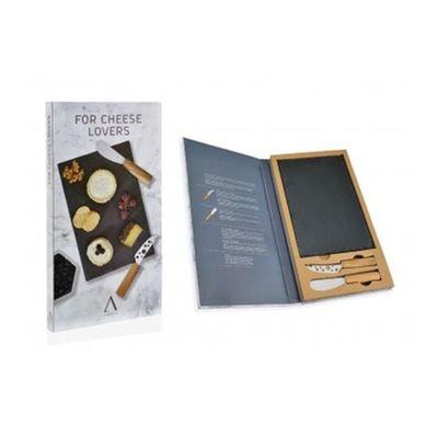 Plateau à Fromages avec Planche en Ardoise et 2 couteaux à Fromages Plateau à Fromages avec Planche en Ardoise et 2 couteaux à Fromages WADIGA