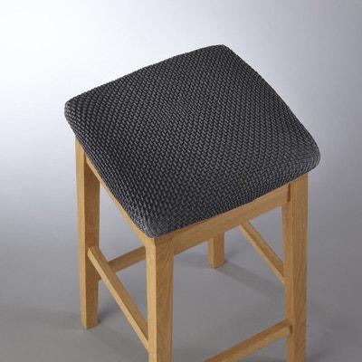 Housse extensible pour tabouret gaufrée AHMIS Housse extensible pour tabouret gaufrée AHMIS La Redoute Interieurs