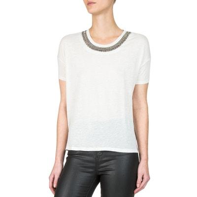 Short-Sleeved Embellished Neck T-Shirt Short-Sleeved Embellished Neck T-Shirt THE KOOPLES