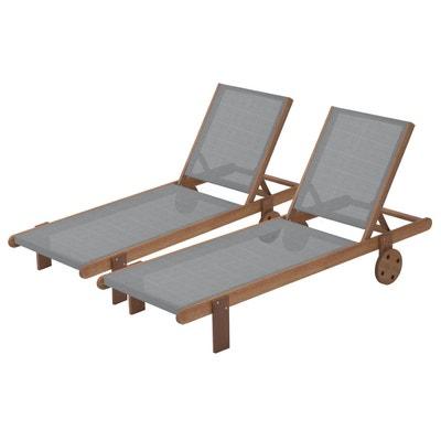 Bain de soleil en bois exotique