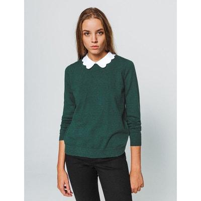 e34fca1b6b627 Pull avec chemise femme en solde   La Redoute