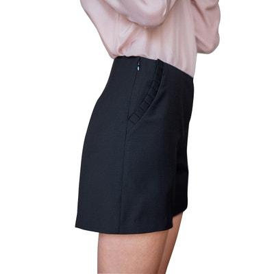 Short en laine simple et élégant classic chic poches latérales style  classique SUNDAY LIFE c7f3f6117585