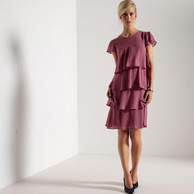 Ruffled Crêpe Dress ANNE WEYBURN