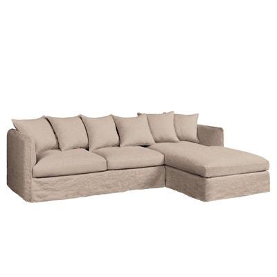 Canapé d'angle fixe Neo Chiquito, lin froissé Canapé d'angle fixe Neo Chiquito, lin froissé AM.PM.