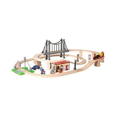EICHHORN Circuit de train avec pont train en bois EICHHORN Circuit de train avec pont train en bois EICHHORN